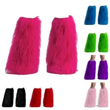 For 2 Pleaser Furry Leg Warmers Anime Rave Monster Fake Fur Boot Covers party