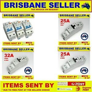 SAFETY SWITCHES 10A 25A 32A AUSTRALIAN APPROVED 240V 1 POLE AND 2 POLE RCD
