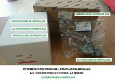 KIT DISTRIBUZIONE + POMPA ORIGINALI FORD PEUGEOT 206 207 307 1.4 HDI