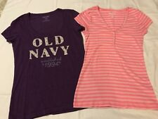 OLD NAVY WOMENS T-SHIRTS ~ LOT OF 2 ~ SIZE M