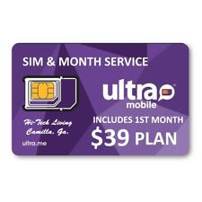 Ultra Mobile Sim includes $39 1St Month ~ Trusted Usa Seller ~