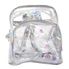 Girl Mini Clear Transparent Backpack Satchel Laser Shoulder Bag Rucksack B7 L6y3