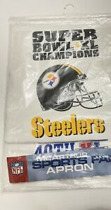 Apron Grilling Pittsburg Steelers Super Bowl 40 XL Champions McArthurs Sports