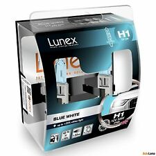 2x H1 Lunex Blue White 3700K 55W 12V Bombillas para Faros P14,5s Hard Case