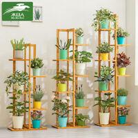 5/6/7 Plant Flower Pot Rack Shelf Wooden Storage Stand Garden Holder Displa