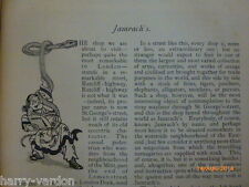 Jamrach's Shop Zoo East End London Victorian Antique Illustrated Article 1900