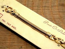 Vintage JB Champion NOS Gold Plate Ladies Snake Chain Sliding Clasp Watch Band