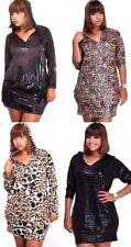 Apple Bottoms Plus Size Hooded Animal Print Dress Tunic Leopard Cat Costume