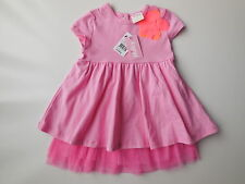 NEW Milky baby girl pink tutu dress with tulle size 0 Fits 6-12 mths RRP $39.95