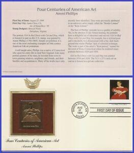 USA7 #3236c U/A GOLDEN REPLICA FDC   American Art Ammi Phillips