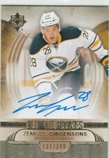 2013-14 Ultimate Collection Rookies Zemgus Girgensons 131/299 RC Auto