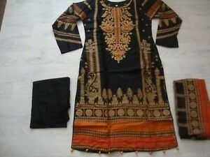 Gul Ahmed lawn design  Embroidered stitched  salwar kameez  summer for  only £25