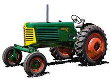 Oliver Model 77 farm tractor canvas art print  Richard Browne - wide