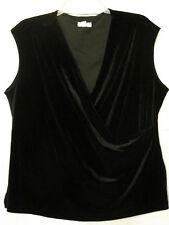 NWT Charter Club Woman 1X Velvet Faux Wrap Slvless Knit Top Vest NEW Cat Rescue