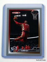 2005-06 Topps Total Silver Variant SP LeBron James Cleveland Cavs Dunking Lakers