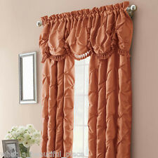 2 Nicole Miller Chateau Persimmon Rust Lined Rod Pocket Panels 100X108 Curtains