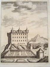 Castello IBERG yberg Wattwil Oriente Svizzera vera età chiave rame circa 1750