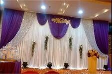 20x10FT Stage Wedding Backdrop Curtain Background Decor Sparkly Sequin Swag NEW