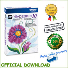 Embroidery Program Brother PE Design 10 100% Full Version -Only £3.99