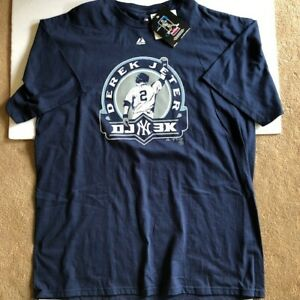 Majestic Derek Jeter 3KHit t-shirt new with tags 100% cotton size XL Yankees