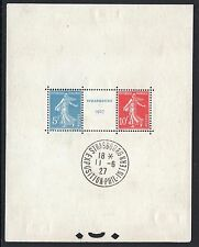 "FRANCE BLOC FEUILLET 2 a "" STRASBOURG 1927 "" NEUF  AVEC CACHET EXPOSITION  M443"