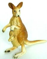 Schleich Kangaroo With Joey In Pouch Animal Figure Retired 2000