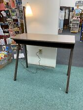 Vintage Mid Century Steel Metal Desk Industrial with Built in Lamp unique rare