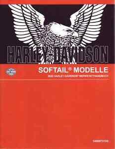 HARLEY-DAVIDSON Reparaturanleitung 2020 Softail FLFBS Fat Boy 114 DEUTSCH Buch