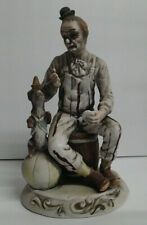 Vintage Clown and Dog Circus Figurine Statue