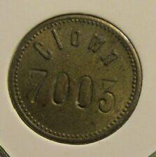 CLOWN 7003 1905-1924 Gaming Token 17.3mm 2g Brass.