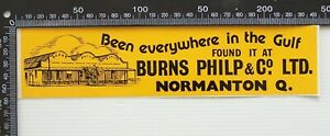 VINTAGE NORMANTON QLD BURNS PHILP & CO LTD AUSTRALIA ADVERTISING PROMO STICKER
