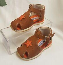 Niños Chica Joven Bebé Zapatos Sandalias Hecho ITALY Braun 101f gr 19