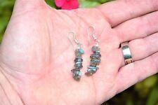 CHARGED Labradorite Designer Crystal Chip Earrings REIKI Energy! ZENERGY GEMS™