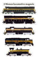 Monon Black & Gold Locomotives 5 magnets Andy Fletcher