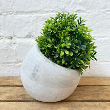 Concrete Cement Home Garden Round Flower Herb Planter Container Bowl Slanted Pot