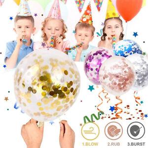 10/20pcs Confetti Balloon 12'' Decorations Birthday Party Wedding Helium Balloon