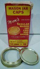 Vintage Mom's One Dozen Regular Mason Jar Lids and Bands for Home Canning