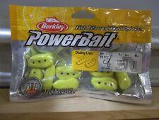 """Berkley Powerbait 1"""" Oozing Liver chartreuse 8 per package NIP"""