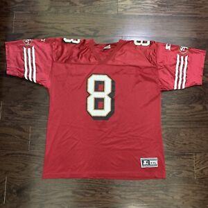 Vintage San Francisco 49ers NFL Football Starter Jersey Mens 54 #8 Steve Young