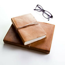 Handmade Rustic Style Journal/Notebook - Tanned Leather (FSIndianJRNA5)