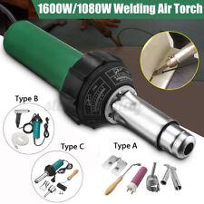 1600W/1080W AC220V Hot Air Plastic Welding Torch Gun Welder Kit + Nozzles