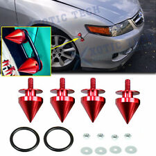 JDM Red Spike Metal Quick Release Fasteners Kit For Car Bumper Trunk Universal