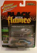 1968 '68 CHEVY CHEVELLE SS 396 BLACK WITH FLAMES STREET FREAKS JOHNNY LIGHTNING