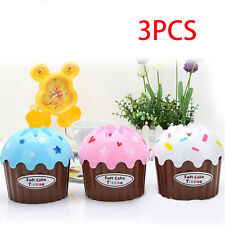 3pcs Creative Cute Ice Cream Cake Towel Tube With Bath/Toilet Paper Tissue Box