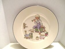 """Lenox Special Boy Sitting on Drum Playing Horn 8-1/8"""" White Round Salad Plate"""