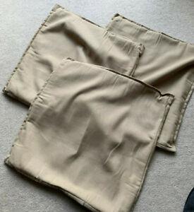 3 x IKEA GURLI Cushion Cover 50x50cm 100% Cotton - Beige