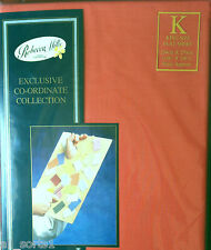 KING SIZE FLAT SHEET TERRACOTTA LUXURY POLY COTTON 180 THREAD COUNT EASYCARE