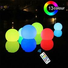 Floating LED Ball W/ Remote Outdoor Swimming Pool Waterproof Light Decor 40cm