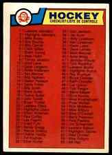 1983-84 O-Pee-Chee Checklist #134