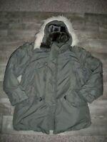Vintage 1970s N3B Hooded Parka Jacket Snorkel Military Fur Hood USAF Mens Medium